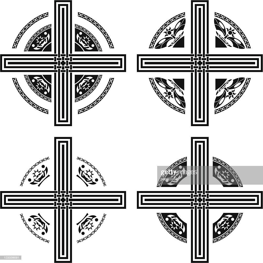 set of fantasy crosses