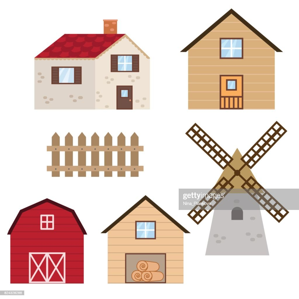 Set of farm buildings and constructions