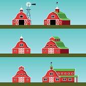 Set of farm buildings