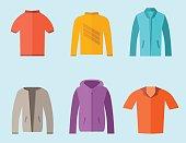 set of fashion collection clothing wardrobe