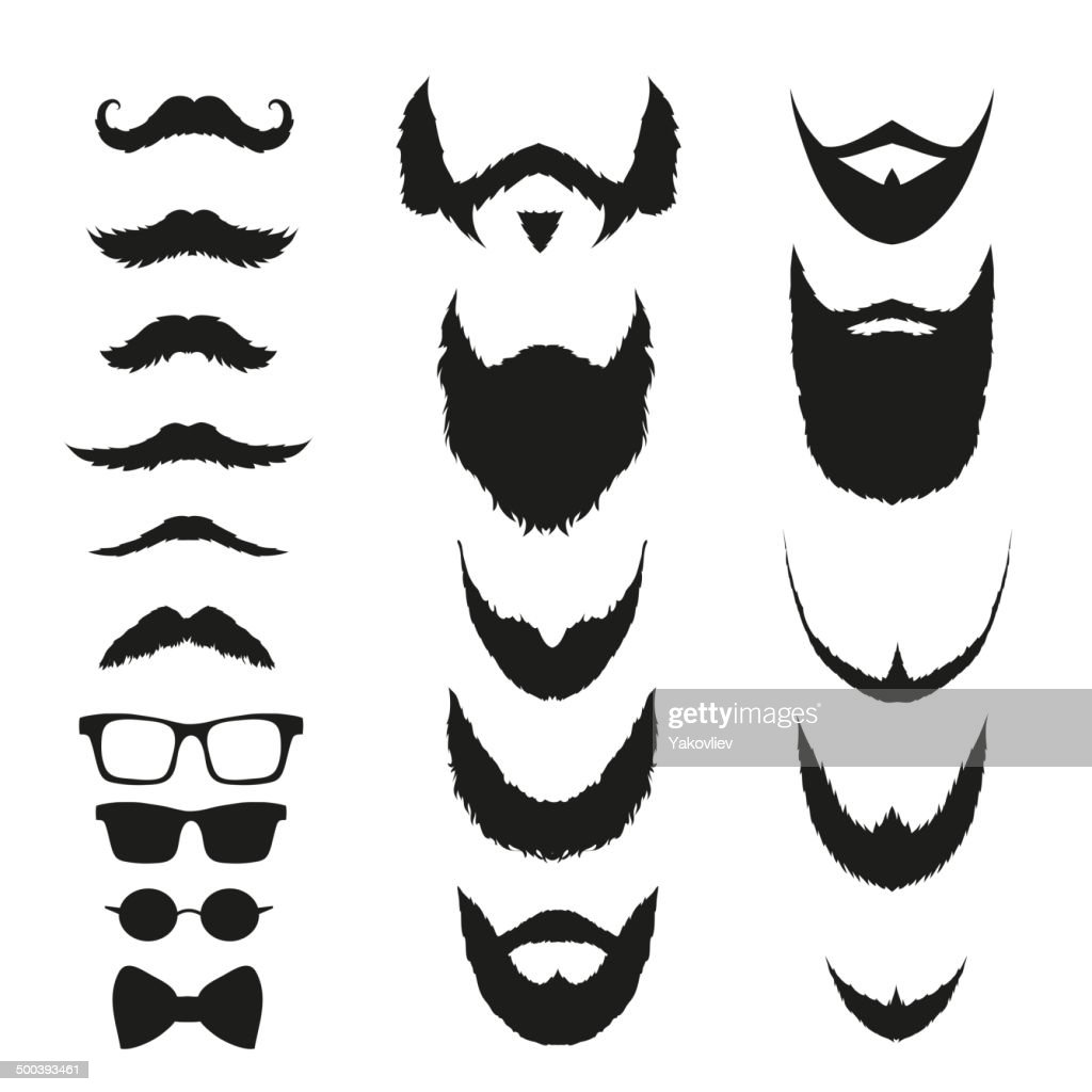Set of fashion silhouette hipster style, vector illustration