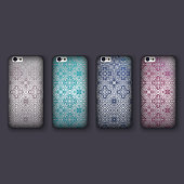 Set of fashionable mosaic ornaments for mobile phone cover, tile geometric elements. mobile phone case