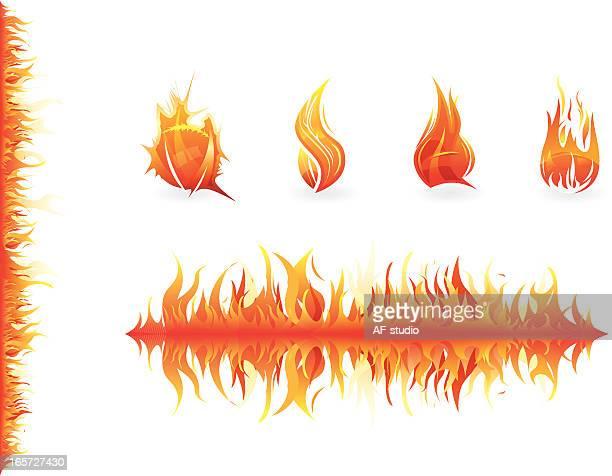 Set of fire elements