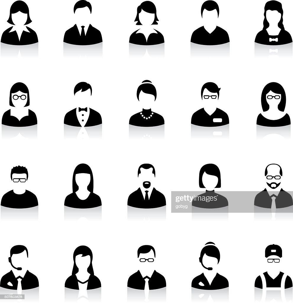 Set of flat business avatar icons : stock illustration