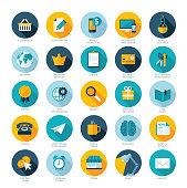 Set of flat design icons for web marketing
