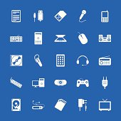 Set of flat icons. Technology and communications.