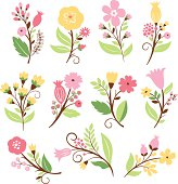 Set of florwers
