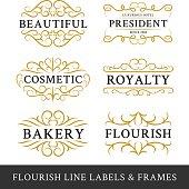 Set of flourish calligraphy frames design