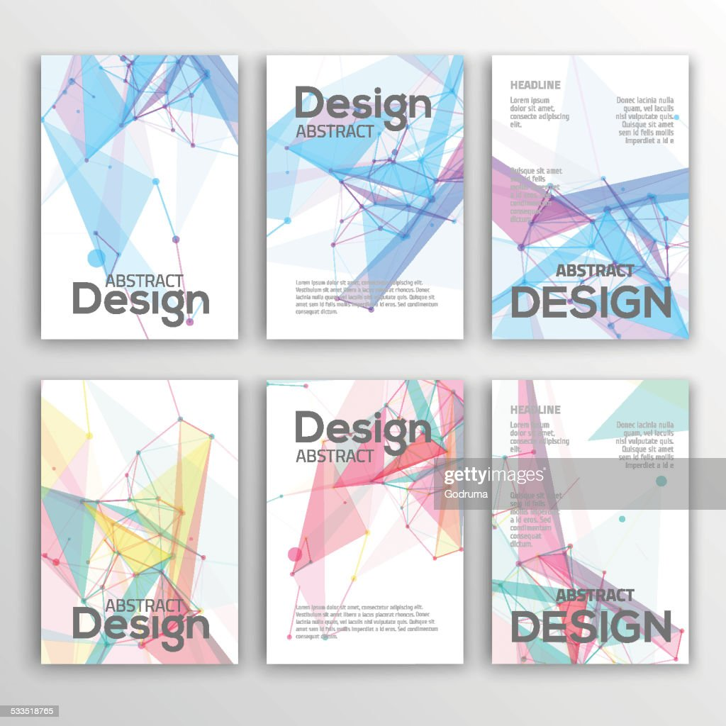 Set of Flyer, Brochure Design Templates. Geometric Abstract Modern Backgrounds.
