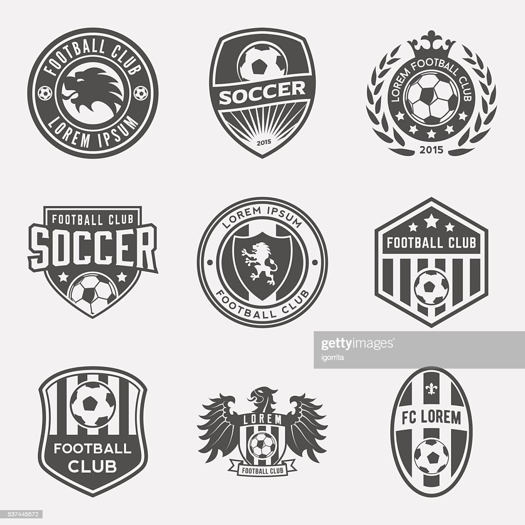 set of football (soccer) crests and logos