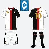 Set of football jersey, soccer kit. Football shirt template. Vector