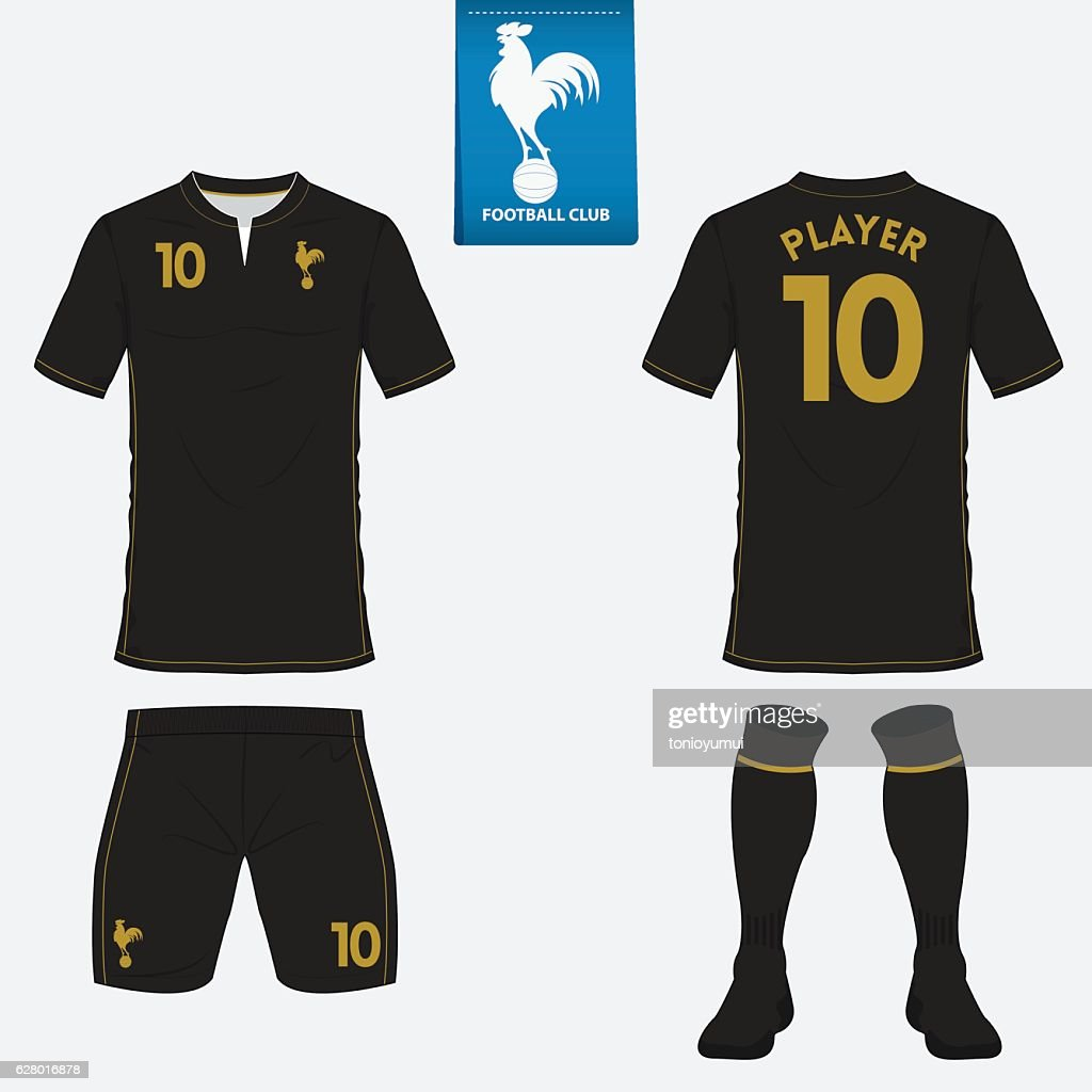 Set of football kit, soccer jersey. Football uniform template. Vector