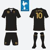 Set of football kit, soccer jersey. Football uniform template. Vector
