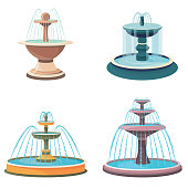 Set of fountains.