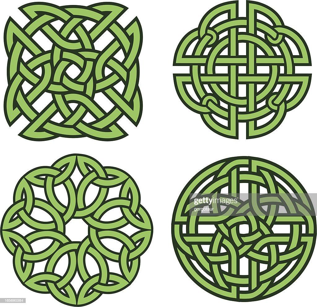 Set of four celtic knots