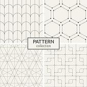 Set of four seamless patterns.