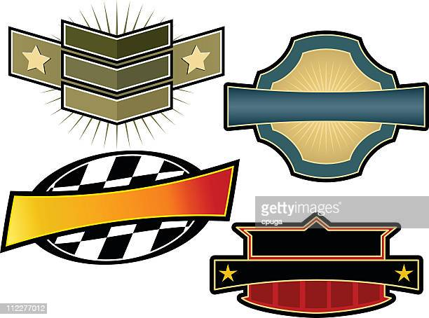 Set of four vintage-style emblems and crest templates