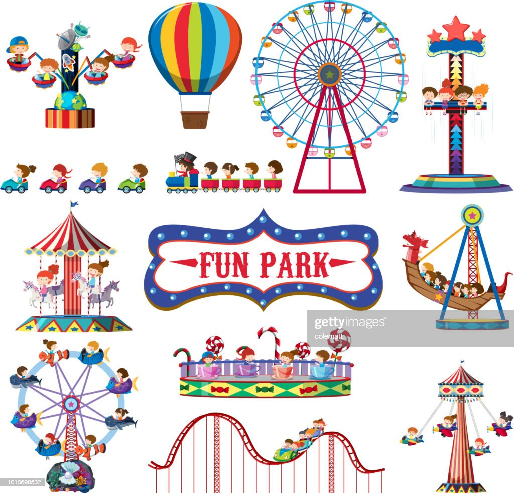 A set of fun park rides