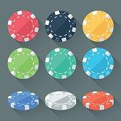 Set of Gambling Chips