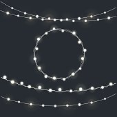 Set of garland Christmas lights
