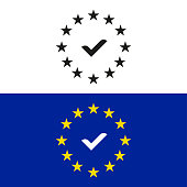 Set of GDPR (General Data Protection Regulation) icons. Black and colored vector icons