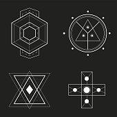 Set of Geometric Design, vector