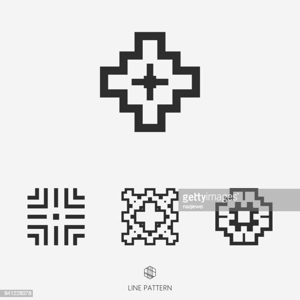 set of geometric icon - home decor stock illustrations, clip art, cartoons, & icons