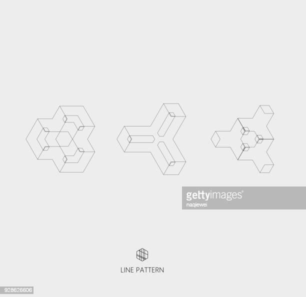 Reihe von geometrischen Liniensymbol