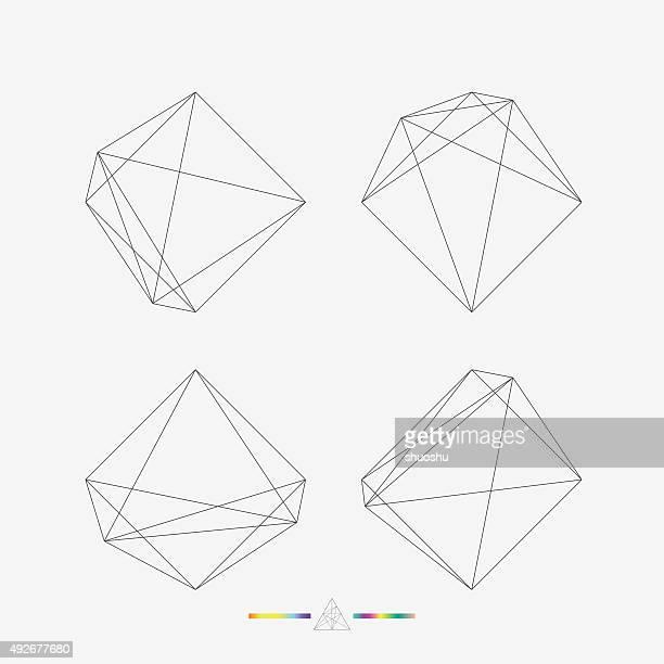 set of geometry line pattern