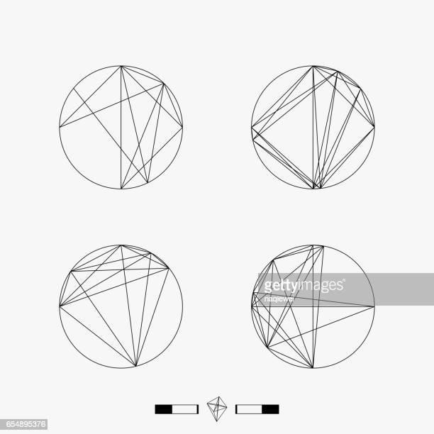 set of geometry pattern icon - philosophy stock illustrations