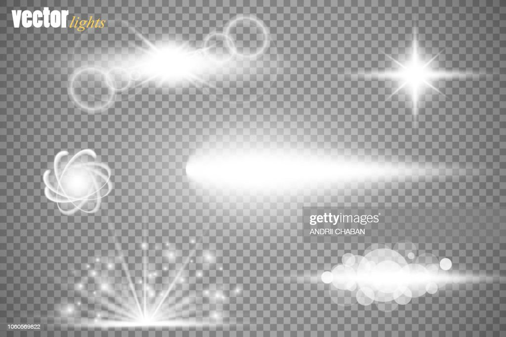 Set of glow light effect stars bursts with sparkles isolated on transparent background. For illustration template art design, banner for Christmas celebrate, magic flash energy ray
