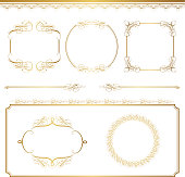 set of golden frames