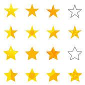 A set of golden stars.