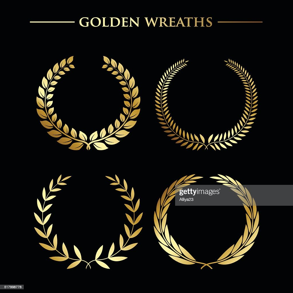 Set of  golden wreaths