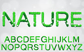 Set of grass font eco collection concept.