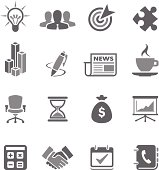 Set of gray business vector icons