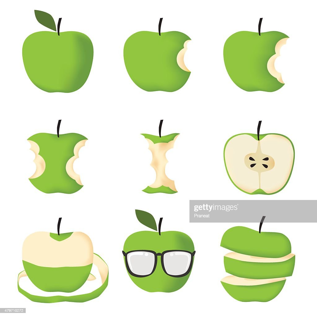 Set of Green apple