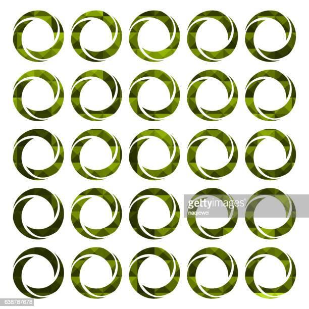 set of green focus buttons - aperture stock illustrations, clip art, cartoons, & icons