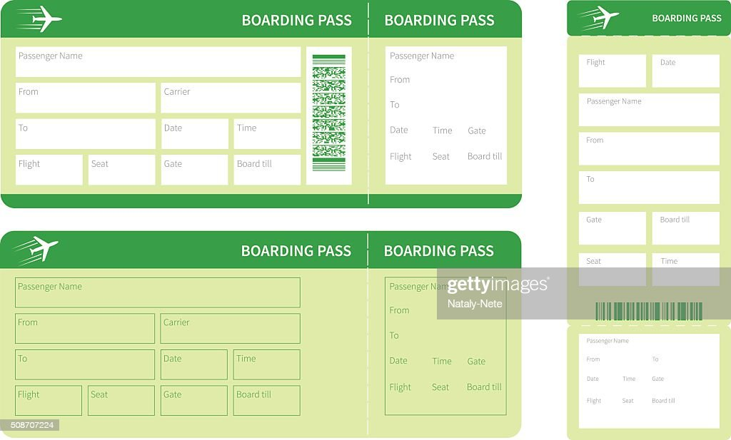 set of green tickets