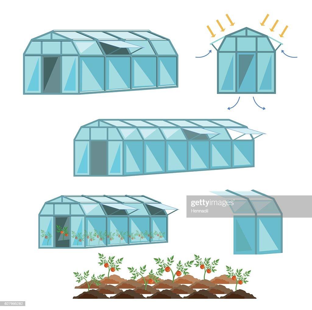 Set of greenhouses