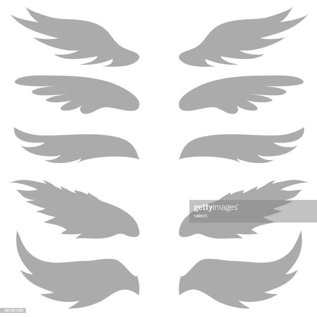 set of grey wings