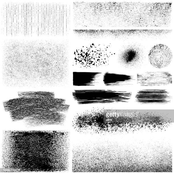set of grunge elements - powder paint stock illustrations