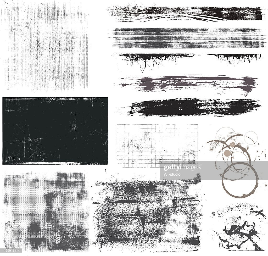 Set of Grunge Elements
