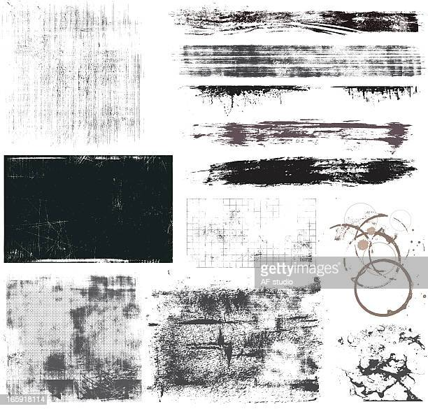 set of grunge elements - at the edge of stock illustrations