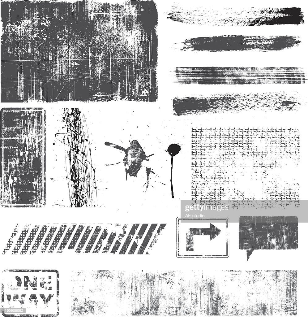 Set of Grunge Elements