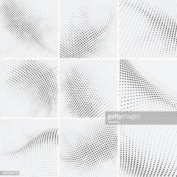 set of halftone background - spotted stock illustrations