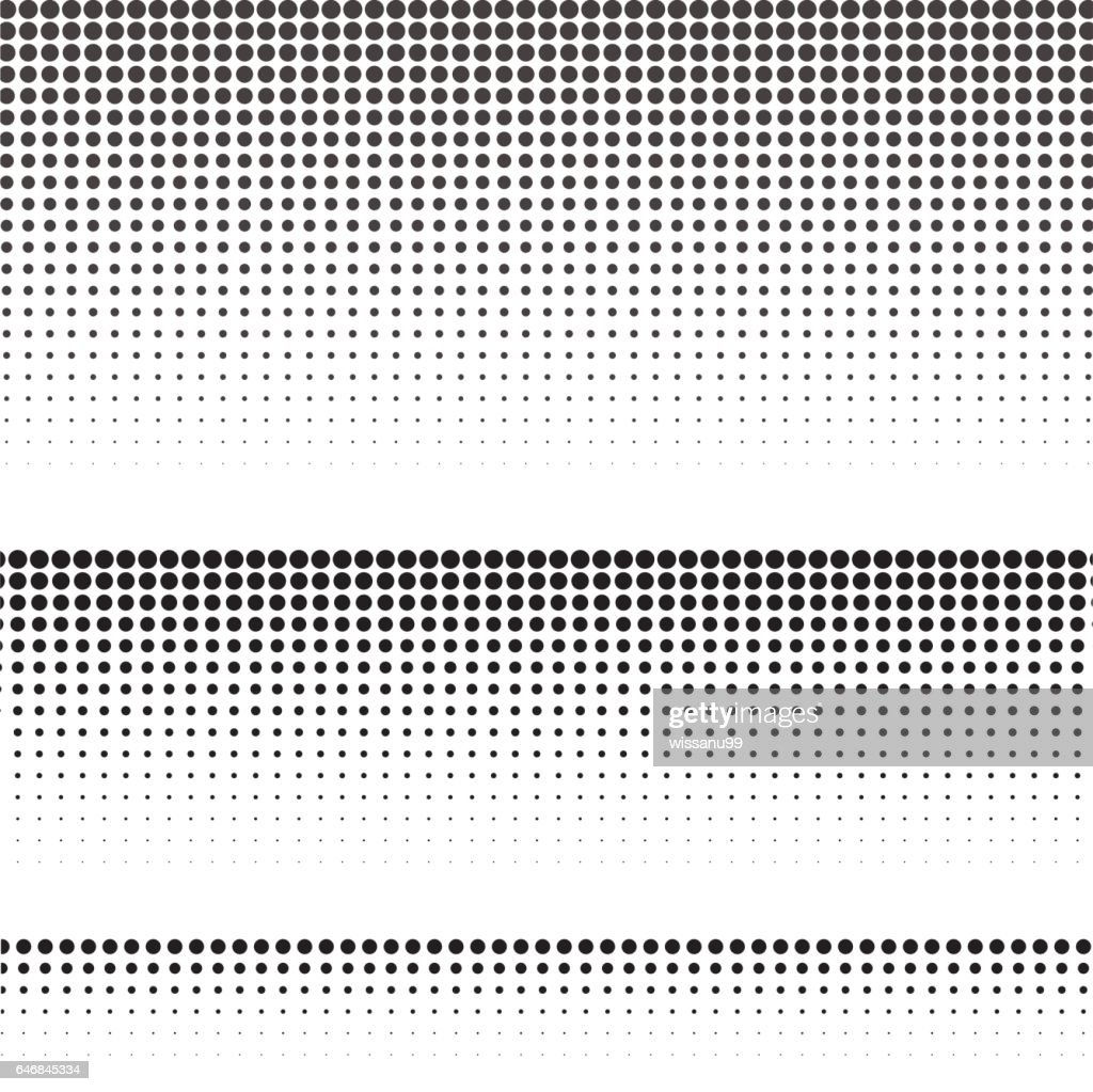 Set of halftone texture for graphic design. Vector illustration.