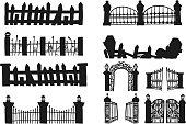 Set of halloween fence