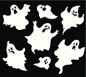 Set of halloween  ghosts1