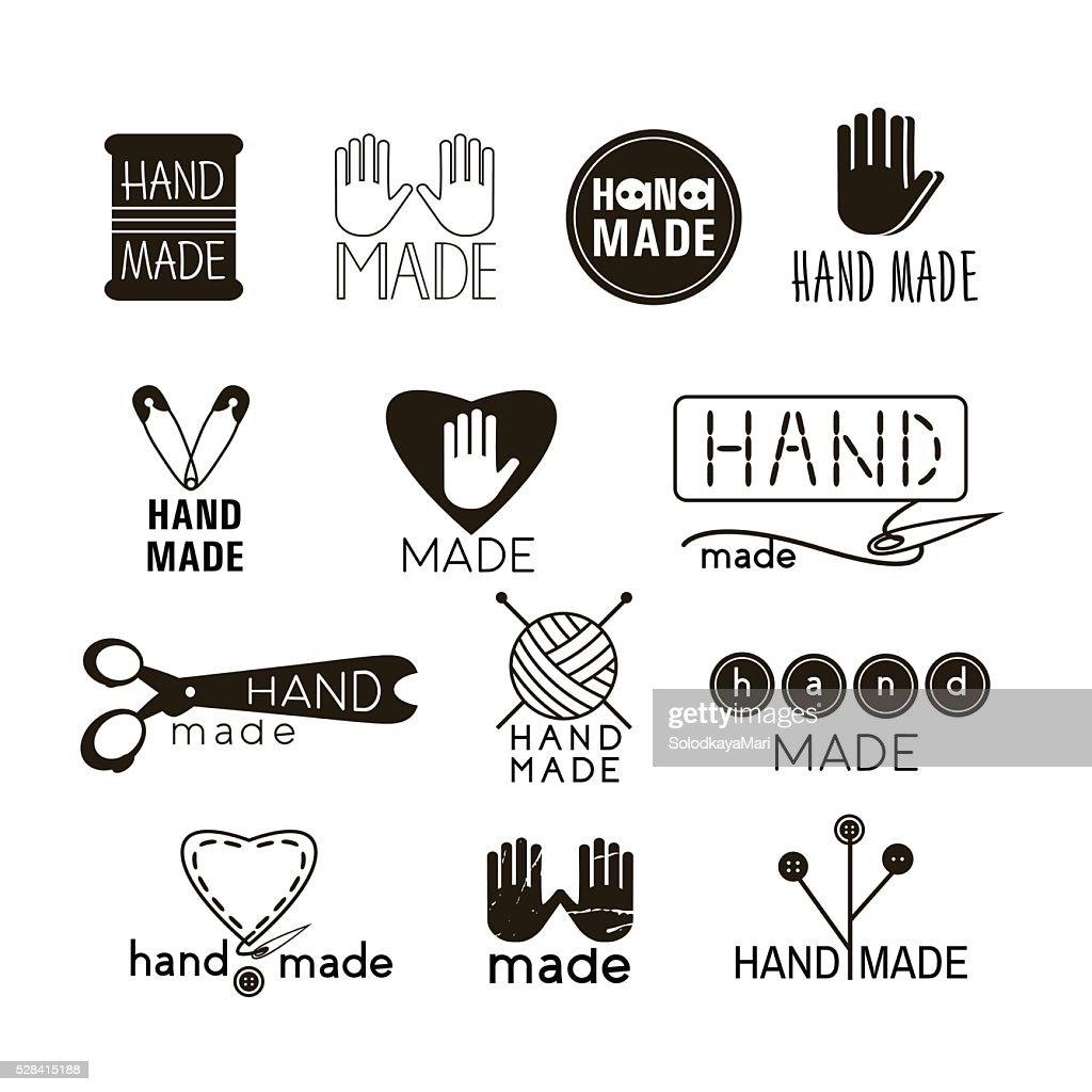 Set of hand made labels, badges and logos for design.